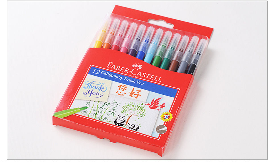 Faber castell aquarell calligraphy brush markers water based colored