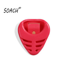 SOACH Bass ukulele guitar Alice dial clip picks box boxes fish special Can stick 7 colors available Paddle accessories
