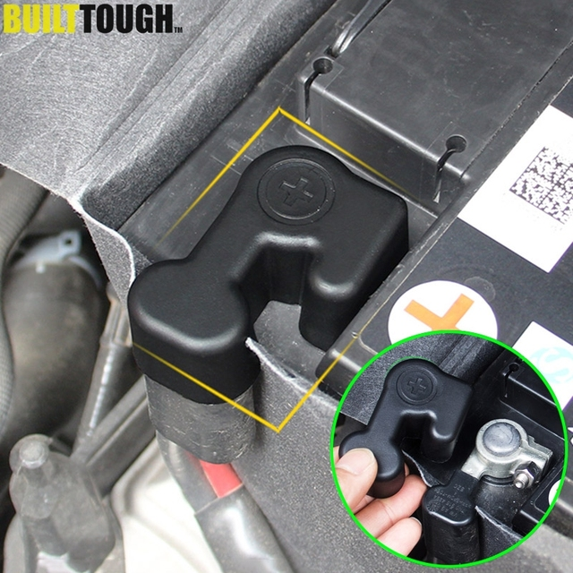 Battery Cathode Positive Electrode Pole Terminal Protective Cover For VW Passat B8 / Variant NMS Golf MK7 Sportsvan Jetta MK6