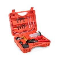 2 In 1 Hand Held DIY Brake Fluid Bleeder Tester Vacuum Pistol Pump Tester Kit Vacuum Gauge Diagnostic Tool