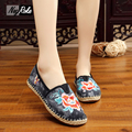 Spring Fashion chinese embroidered shoes Women Casual  linen thin Shoes Mary Jane laides Flats shoes woman zapatillas mujer
