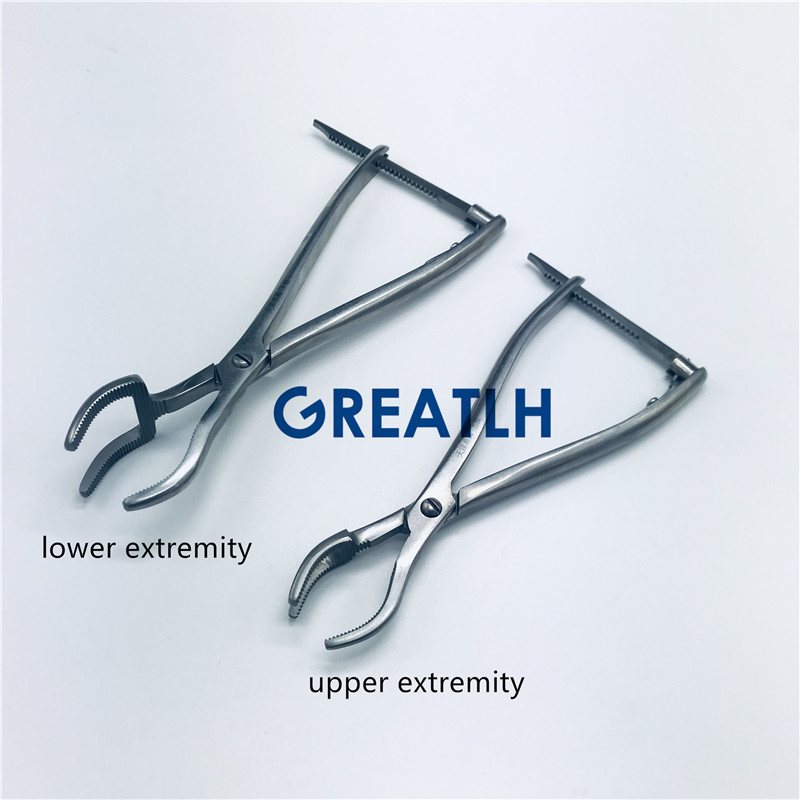 Three-claw reset forceps Stainless steel Veterinary orthopedics InstrumentsThree-claw reset forceps Stainless steel Veterinary orthopedics Instruments