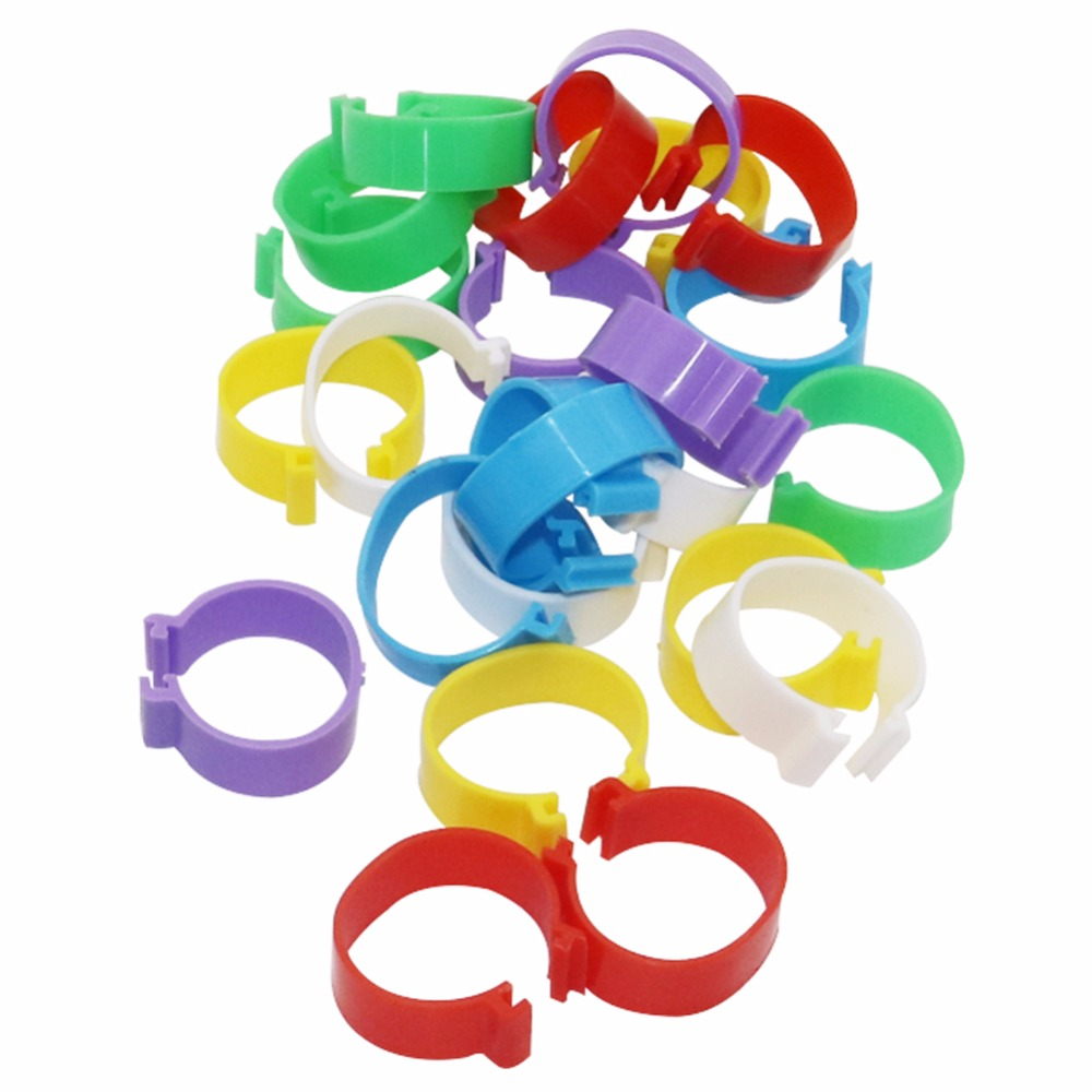 30Pcs Internal Diameter 25mm Poultry Foot Ring Buckle Type Clip Rings Chicken Duck Goose Adult Turkey Poultry Farming Equipment