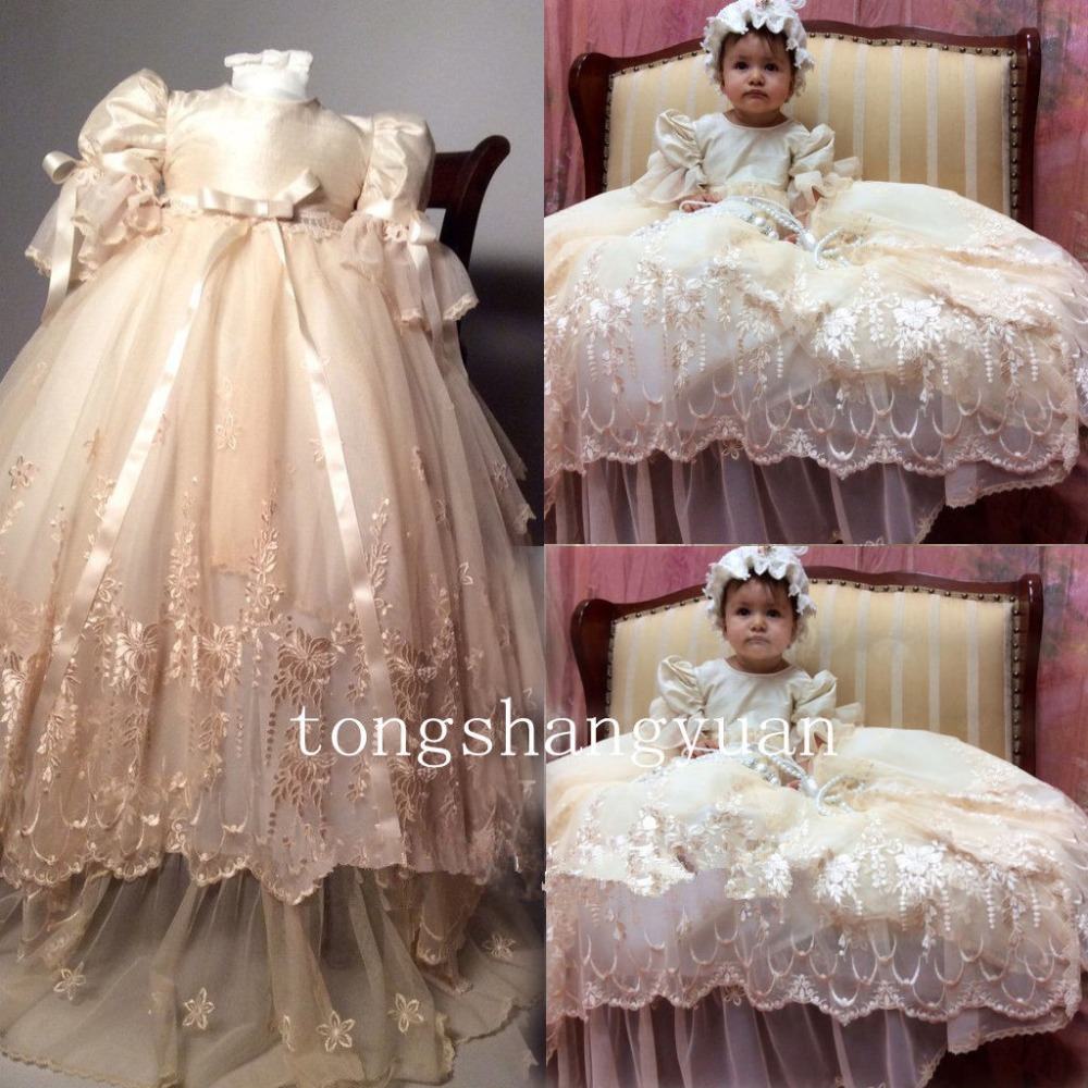 Royal Baby Girl Lace Christening Outfits Toddler Baptism Infant Dresses +Bonnet baby girl 1st birthday outfits short sleeve infant clothing sets lace romper dress headband shoe toddler tutu set baby s clothes