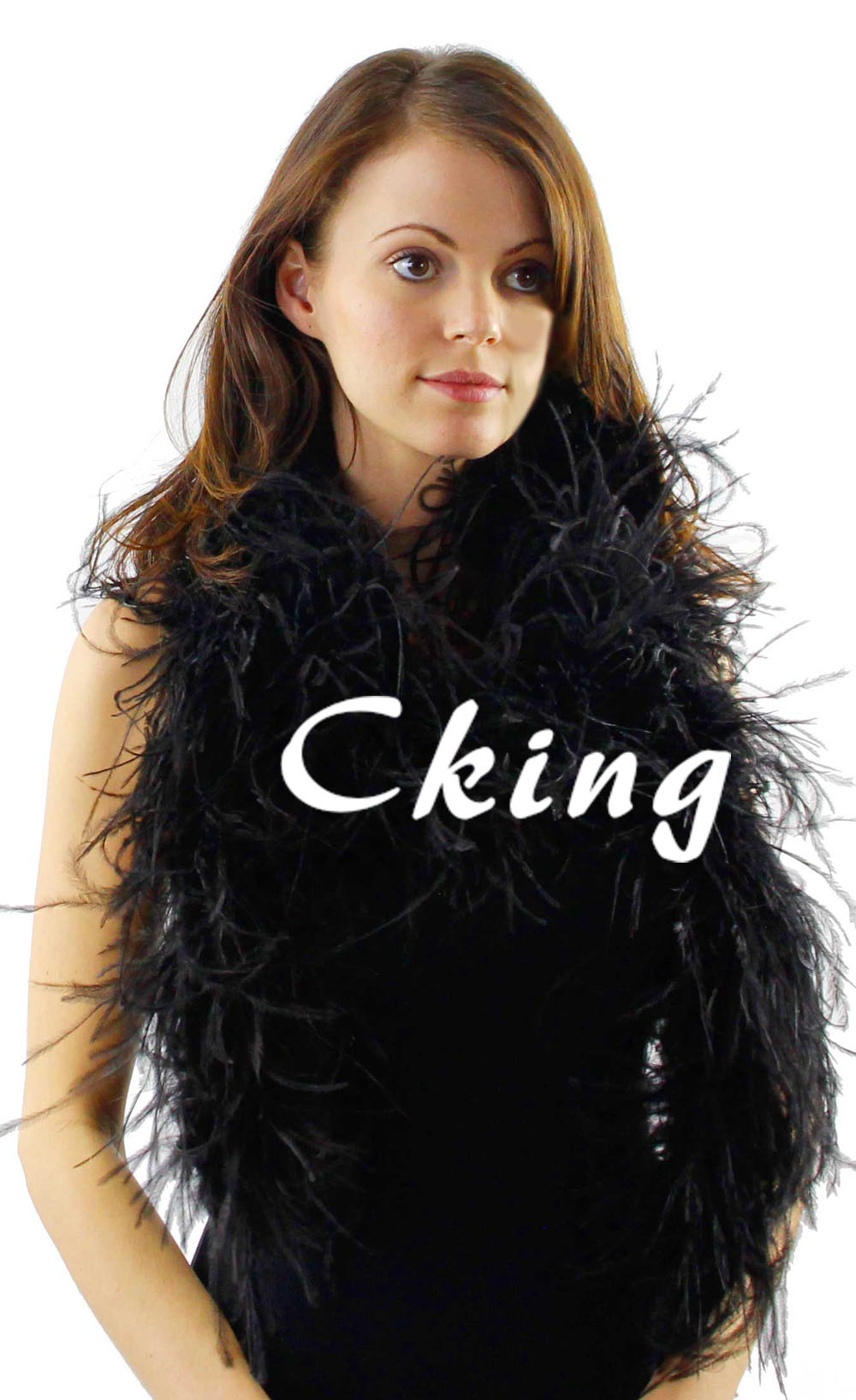 Wholesale 10pcs Black ostrich feather fringes boas 3ply thickness 2 meter long per pc Feather Scarfs Free Shipping