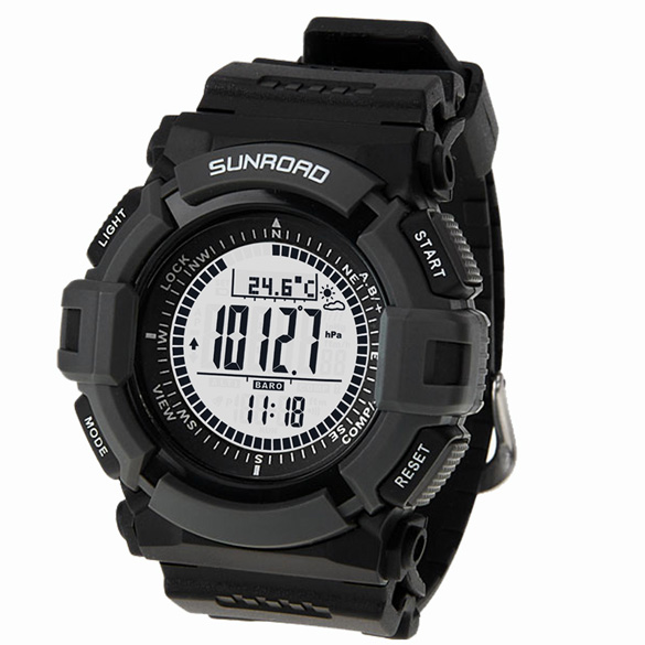 Для мужчин спортивный цифровые часы Sunroad fr821a альтиметр барометр Компасы термометр погода шагомер цифровые часы