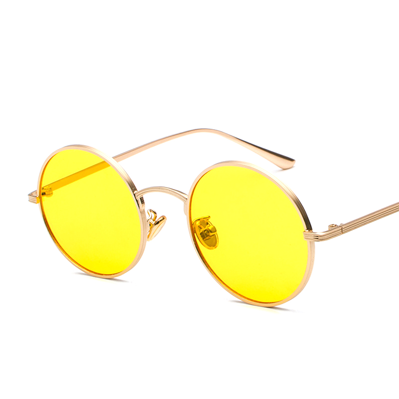 Pop Age 2018 Newest Round Ocean Red Sunglasses Women Men Coating Mirror Sun glasses Vintage Eyeglasses Oculos de sol 400UV in Women 39 s Sunglasses from Apparel Accessories