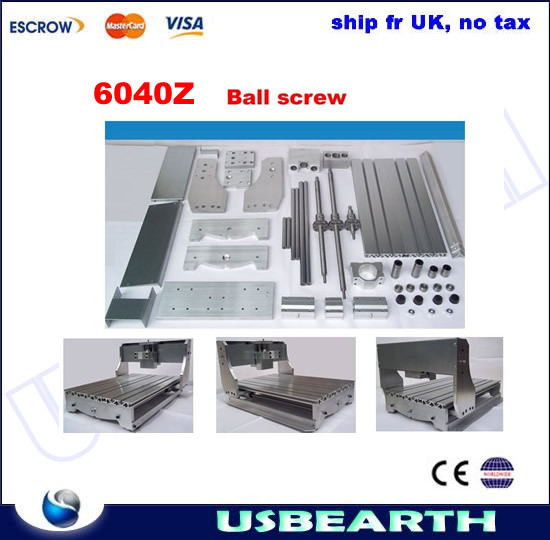 No tax ! DIY CNC frame 6040Z with ball screw,  CNC router table 6040 no tax ship from factory diy cnc frame for 3020z with ball screw optical axis and bearings also have 3040 6040 6090 frame kit