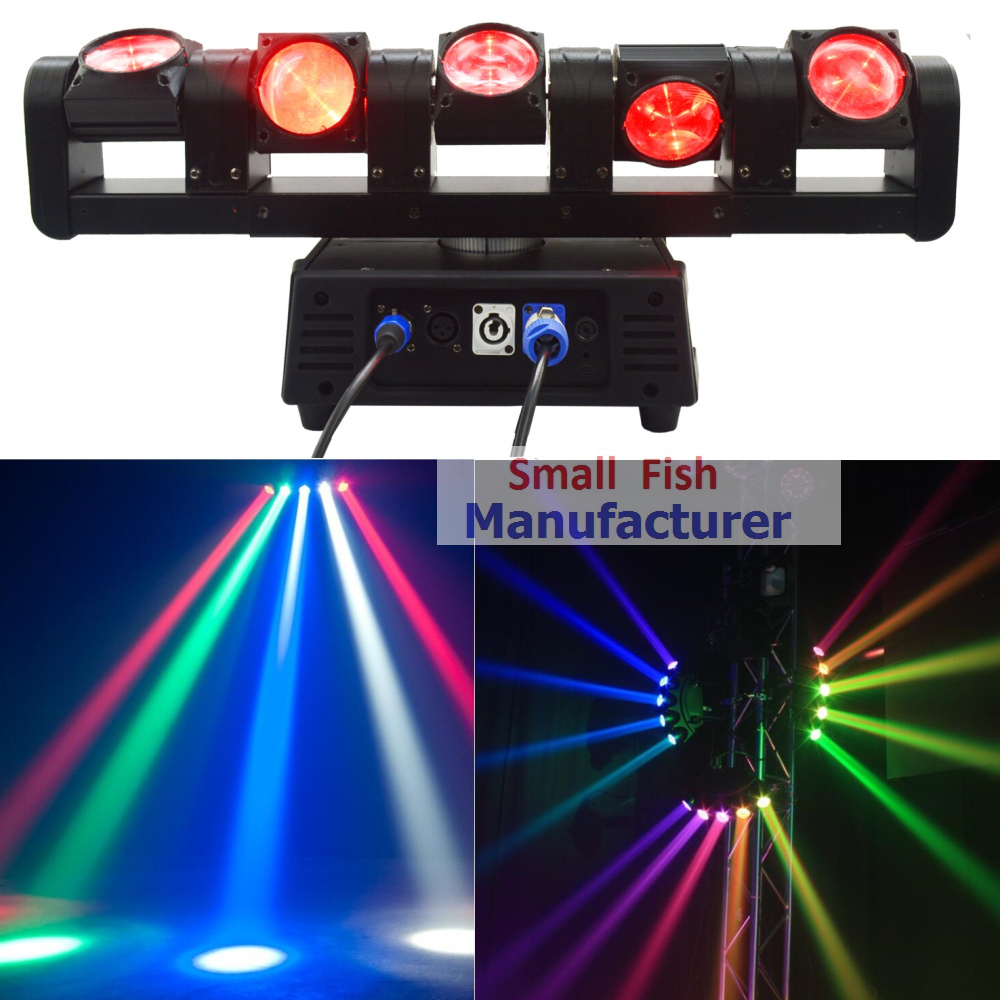 2017 New ADJ Professional Stage Lights 5 Heads Rogue RGBW 4in1 Led Moving Head Bar Light Led Effect Pixel Control Each 5 Lamps