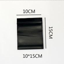 100pcs/lot Jewelry Zip Zipped Lock Reclosable Black Color Plastic Poly Clear Bags 10x15cm