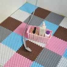 25cm Square Puzzle Carpet 4/6/9 Pcs Bathroom Hydrophobic Rugs Healthy Massage Carpets Toilet Waterproof Non-slip Mats