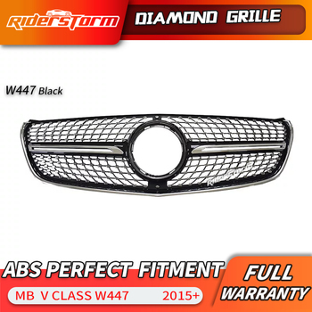 For V Class Grill W447 and  VITO Diamond Grille For V260  V220 Racing diamond front grille front mesh grill