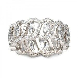 Image 3 - Vecalon Sexy promesse fleur anneau 925 en argent sterling 5A Zircon Cz fiançailles bague de mariage anneaux pour femmes hommes bijoux meilleur cadeau