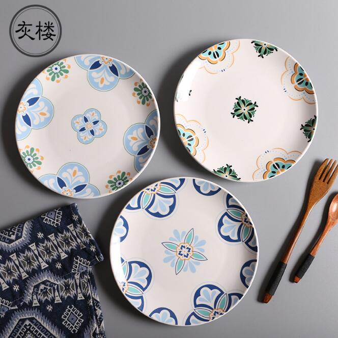 Free Shipping High Quality 8 inch Dinner Plates Geometric Printed Bone China Dishes Plate Porcelain Household Items Dishware-in Dinnerware Sets from Home ... & Free Shipping High Quality 8 inch Dinner Plates Geometric Printed ...