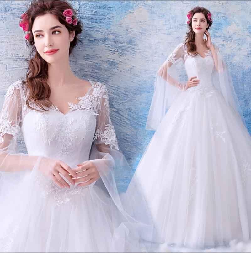 Luxe blanc mariage robe formelle dentelle à manches longues Flare personnalisé soirée robe de soirée tapis rouge robe de bal pour dame grande taille 5XL