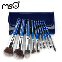 10Pcs Makeup Brushes Cosmetic Tool Kits Professional Eyeshadow Powder Eyeliner Contour Brush Set With Case Bag