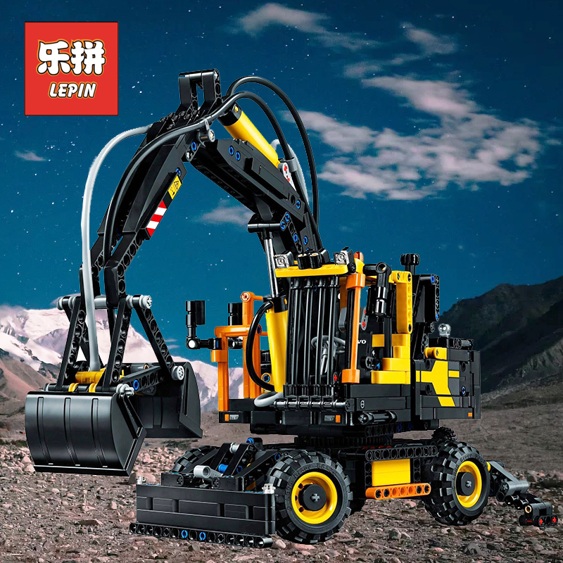 Lepin 20023 Technic the City Engineering Excavator Set Model Building Kits Blocks Compatible 42053 Children DIY Toy Gifts lepin 20025 760pcs technic the red engineering excavator set building blocks bricks model toys christmas gifts compatible 8294