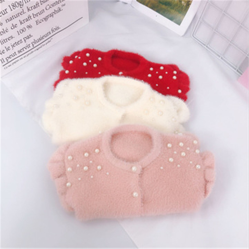 HTB15JdgacrrK1Rjy1zeq6xalFXa7 - Infant Baby Toddler Clothes Sweaters Knitted Pearls Cardigan Coat For Girls Kids Coats And Jackets Children Outwear AA3311