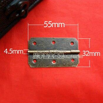 55 * 32mm Antique wooden box hinge Green bronze hinge Lace hinge hinge 180 degree hinge flat Wholesale фото