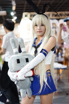 New Kantai Collection Shimakaze Cosplay Costume Suits+Stockings Halloween Costumes for Women Disfraces Uniforms S-L 2
