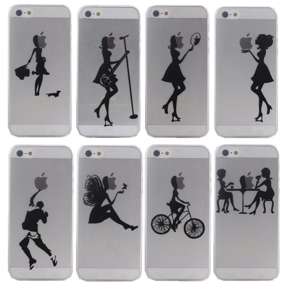 Ultra Thin Hard PC Case Cover Apple iPhone 5 5s Mobile Phone Bag s Logo Clear Fashion Pretty City beauty Girls - Shenzhen RYG group co., LTD store