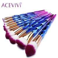 ACEVIVI 10Pcs Professional Makeup Brushes Set Beauty Cosmetic Eyeshadow Lip Powder Face Pinceis Tools Kabuki Brush