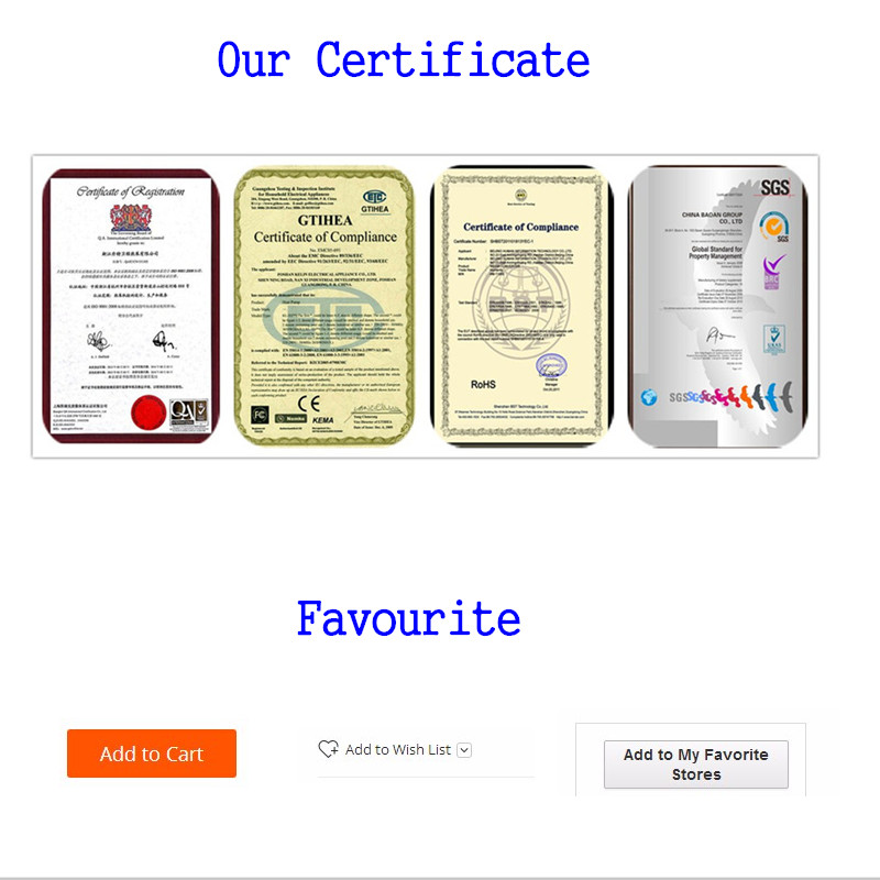 Certification and favourite