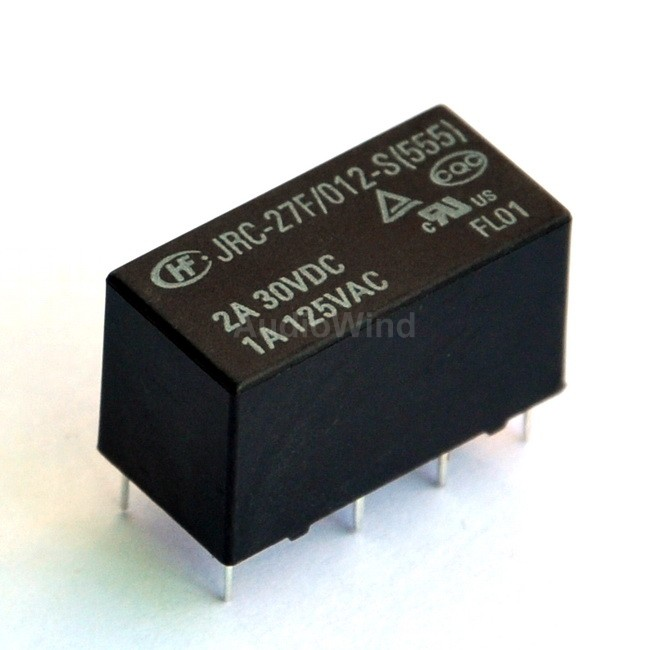 ( 100 Pcs/lot ) Signal Relay, 12V, 2 Form C (DPDT), 120V/1Amp