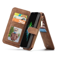 CaseMe Flip Case For Coque IPhone X Case 10 PU Leather Silicone Zipper Wallet On Cover