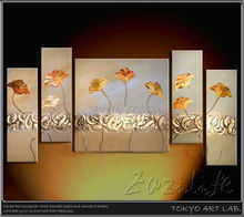 5 Pieces Hand Painted Palette Knife Oil Painting Wall Art Canvas Picture Modern Abstract Home Decor Living Room
