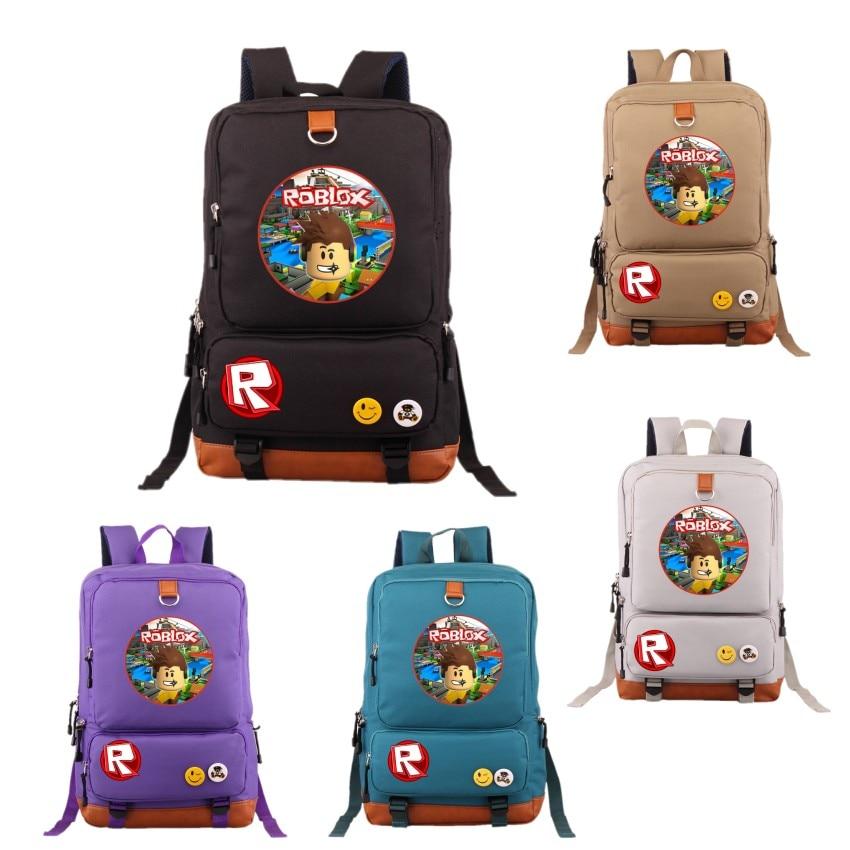 Roblox Games Backpacks Teenage Girl Cartoon Backpack Student School Bag women laptop shoulders bag men casual travel bags все цены