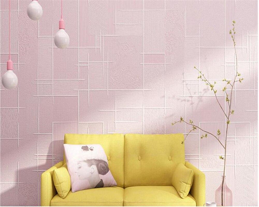 Beibehang papier peint pour murs 3 d Simple pastorale Nonwovens papier peint plaine chambre chaud TV fond papel de parede tapety