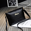New 2016 Black plaid clutch Fashion Women CrossBody Bag Purse shoulder Bags Crocodile Simple Small handbag Women Messenger Bags