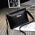New 2016 Black plaid clutch Fashion Women CrossBody Bag Purse shoulder Bags Crocodile Simple Small handbag Women Messenger Bags