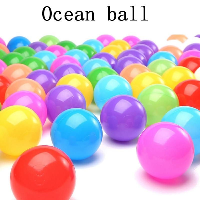 Лидер продаж 5.5 см Экологичный Красочные Мягкие Пластик воды бассейна океана волна мяч детские смешные Игрушечные лошадки стресс воздушный...