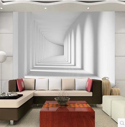 Fototapete 3D Stereoskopischen Walking Promenade Wandbild Tapete  Schlafzimmer Wohnzimmer Sofa TV Hintergrund 3d Wallpaper
