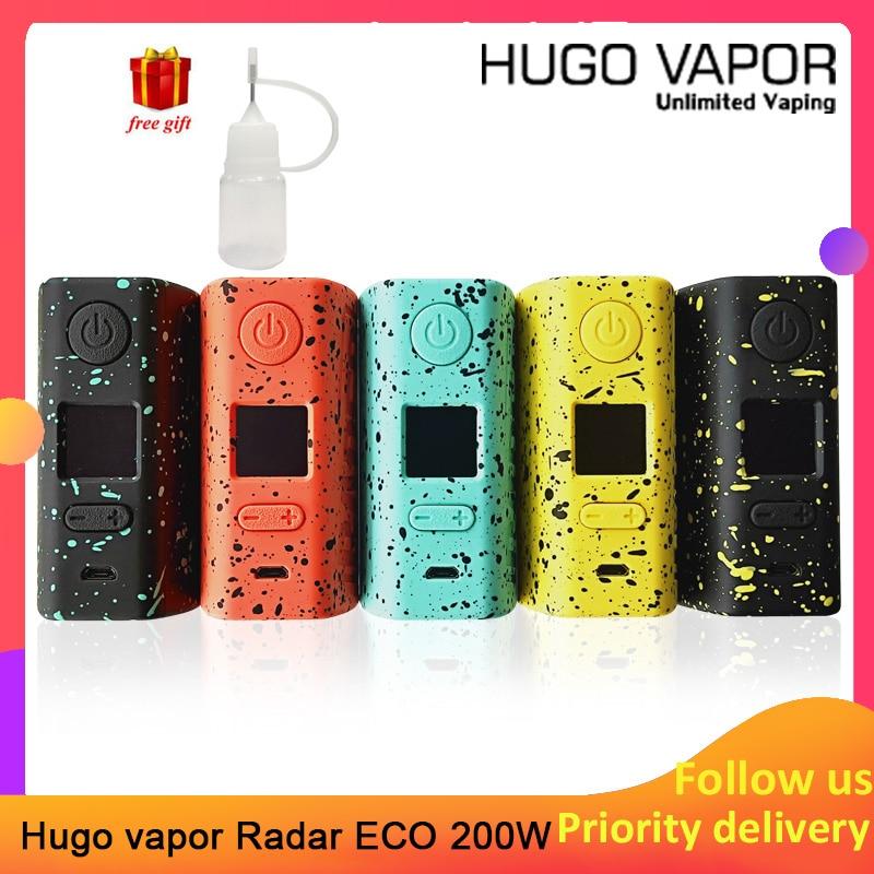 Cigares E originaux Hugo Vapor Rader ECO 200 W boîte MOD cigarette électronique légère poids mod par double 18650 à travers le mod Pro Vape