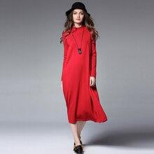 Осенние и зимние пикантные Длинные шерстяное платье Мягкий женственный кашемировый свитер платья женские трикотажные пуловеры Теплые универсальные платья