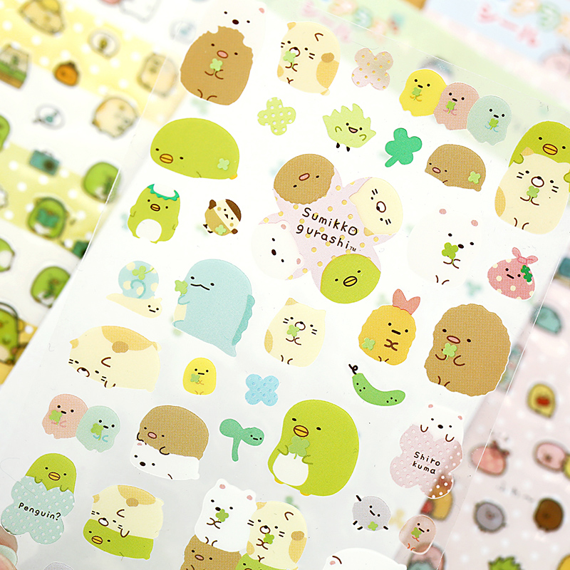 24 Pcs Lot Cute Sumikko Sticker On Notebook Paper DIY Scrapbooking PVC Japanese Stickers Stationery School Supplies 6976 In From Office