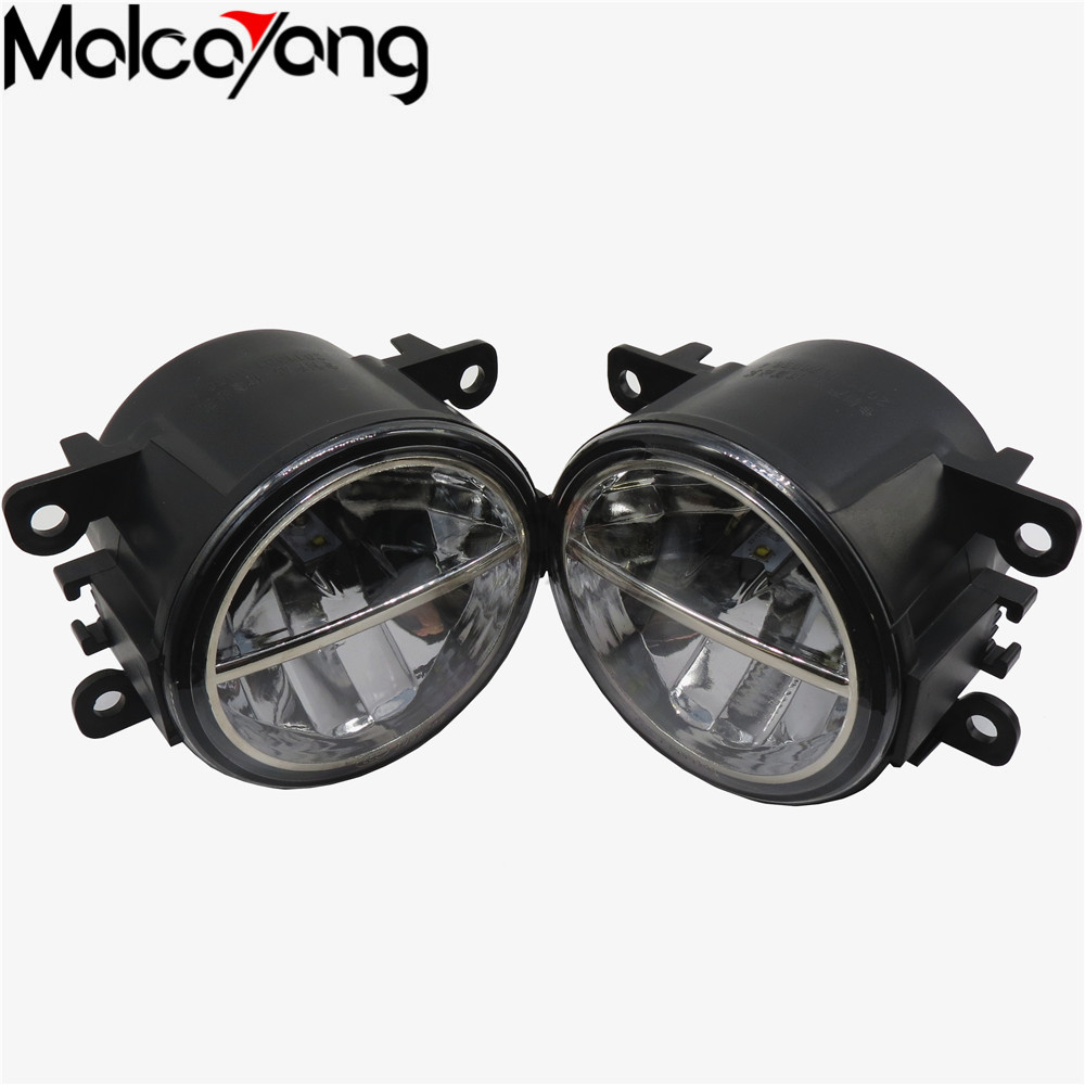 2Pcs Fog Lamp Assembly Super Bright Fog Light For Peugeot 207 307 407 607 3008 SW CC VAN 2000-2013 Led Fog Light 20W 2pcs for peugeot 106 3d 1007 207 307 308 3008 406 407 508 607 18smd car led license plate light lamp oem replace automotive led