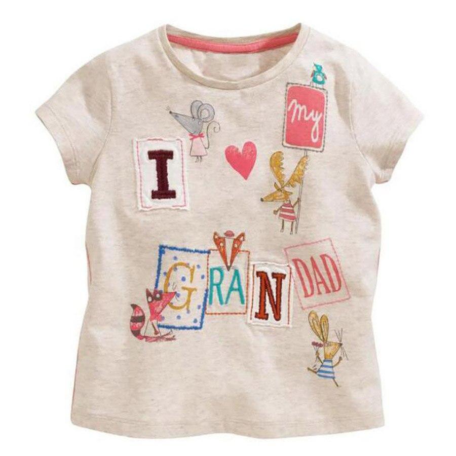Shirt design for baby girl -  1 6yrs Summer New Baby Girl Tops Character Print Tops T Shirt Children Cotton O Neck Short Sleeve T Shirt Design For Girl
