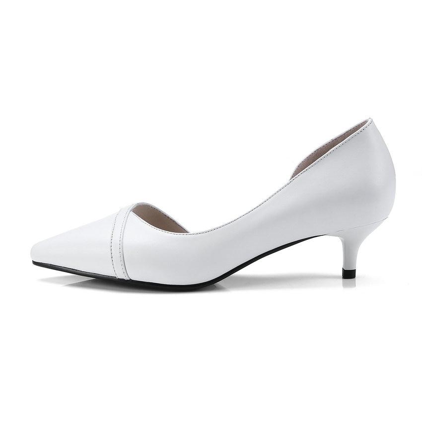 3441 Style Chaussures Tout Dames Noir Match Talons gris À Hauts De 2018 Mince Simple Pointu Profonde Mariage blanc Mode Nesimoo Taille Bout Peu Femmes Pompes QrCBoWedx