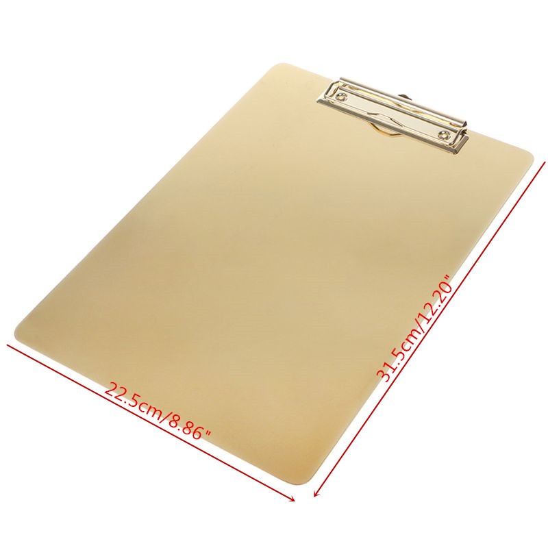 Notebooks & Writing Pads Clipboard Methodical 31.5x22.5cm Metal Clipboard Writing Pad File Folders Document Holder Desk Storage School Office Stationery Supply 3 Sizes