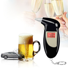 LCD Display Breathalyzer Digital Alcohol Tester Analyzer Detector Test Professional Police Alert Breath Alcohol Tester Device цены онлайн