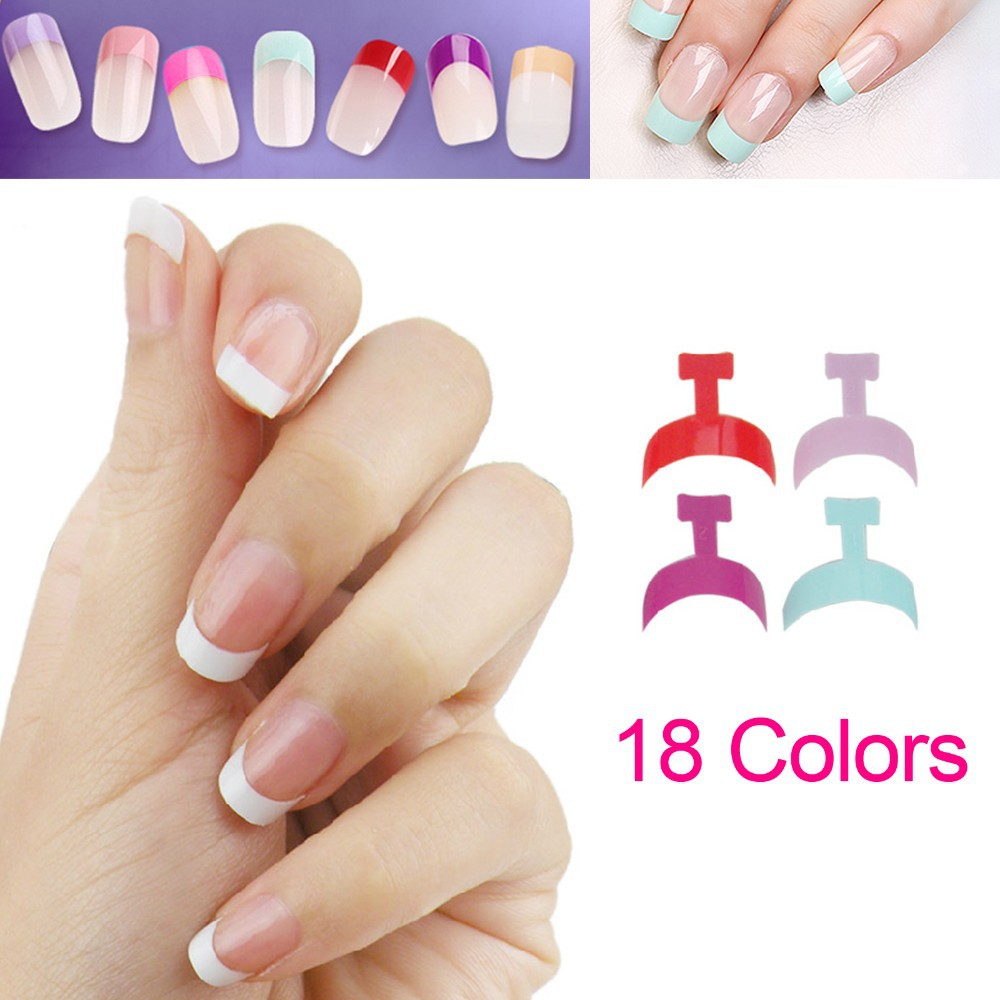 Half False Nail Art Painting Nail Tips Clear Nail Art Pre design ...