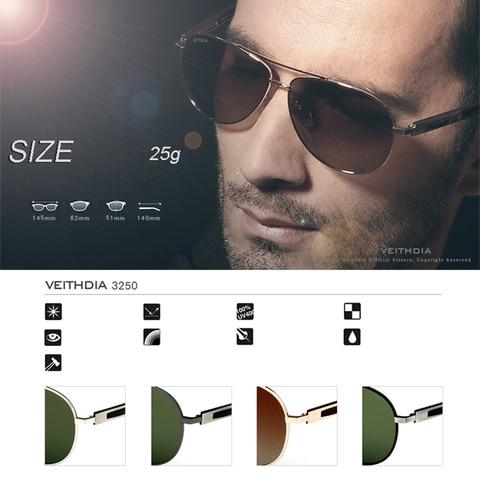 VEITHDIA Classic Designer Mens Sunglasses Polarizerd Vintage Sun Glasses Eyewear Accessories gafas oculos de sol For Men VT3250 Multan