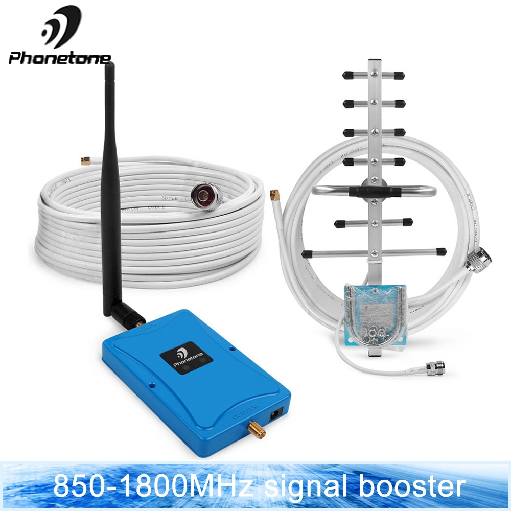 GSM Amplifier 2G 3G 4G LTE Band 5 850MHz Band 3 1800MHz Cellular Signal Booster Data 70dB Repeater With Yagi & whip Antennas SetGSM Amplifier 2G 3G 4G LTE Band 5 850MHz Band 3 1800MHz Cellular Signal Booster Data 70dB Repeater With Yagi & whip Antennas Set