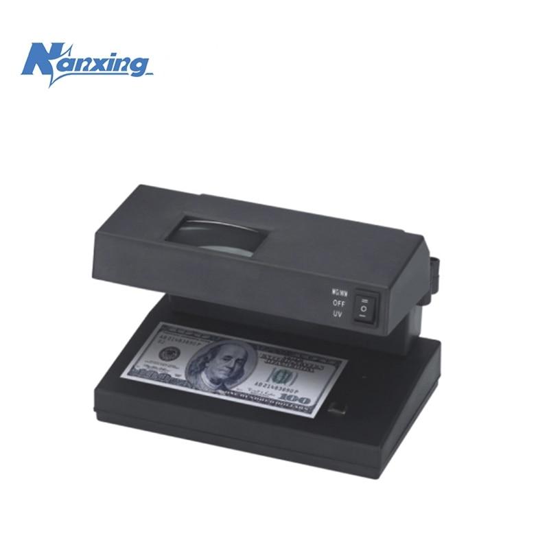 számla-érzékelő nagyítóval valutaérzékelő készpénzfelismerés hamisított pénz gép UV WM MG lámpaNX-2038 érzékelésére