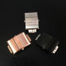 Merjust 20mm 실버 rosegold 블랙 스테인레스 스틸 버터 플라이 버클 걸쇠 ulysse nardin 시계 버클 조각
