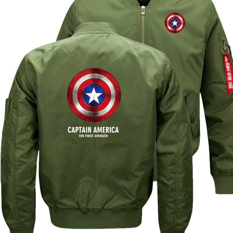 Captain America The First Avenger Bomber Flight Flying Jacket Winter thicken Warm Zipper Men Jackets Anime Men's Casual nbw A+
